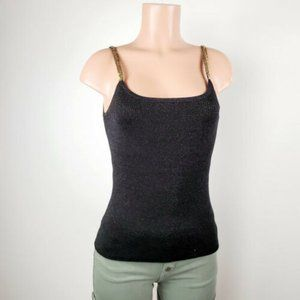 Cable & Gauge Womens Knit Tank Top Stretch Medium